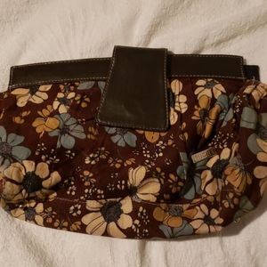 Miche Brown Flowers Bag Cover